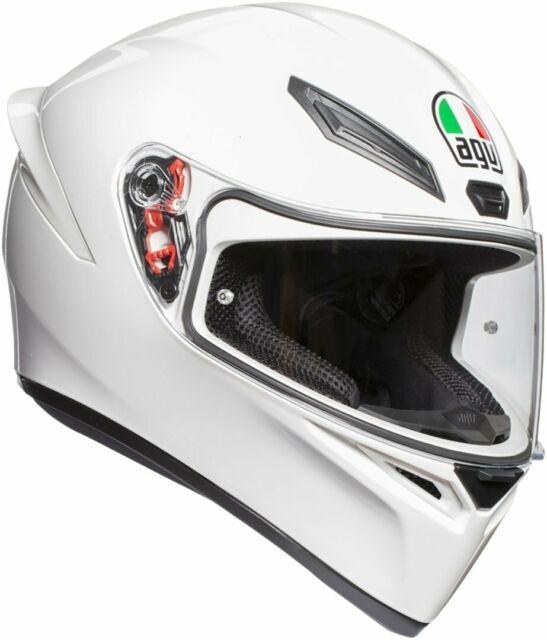 Casco Integral AGV K1 K-1 Solid Mono White TAMAÑO S