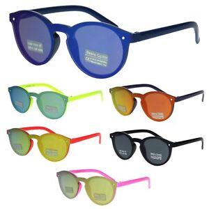 9bb76130af Kids Size Unisex Round Keyhole Thin Horn Rim Hipster Sunglasses