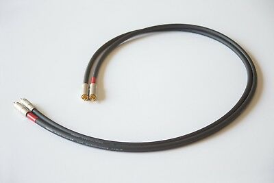 8ft SILVER PLATED PHONO RCA AUDIO AMPLIFIER AUDIOPHILE CUSTOM CABLE MADE IN USA