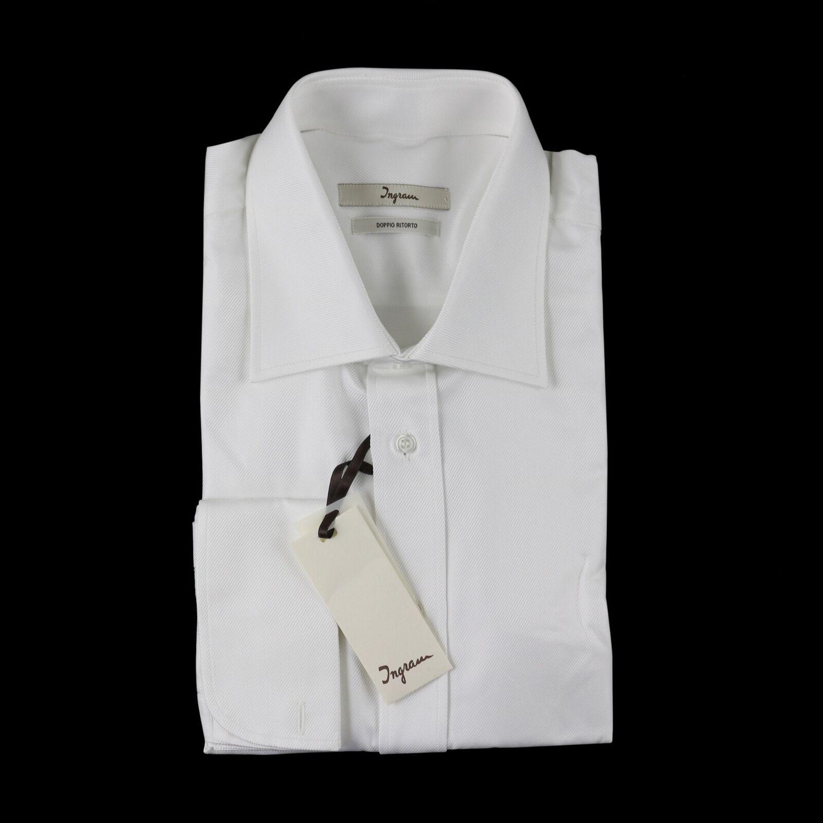Nuevo con Etiqueta Ingram blancoo Doppio Ritorto Algodón  Puño Francés Camisa 16  Con precio barato para obtener la mejor marca.