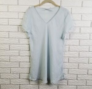 Match-Point-Linen-Top-Shirt-M-Light-Blue