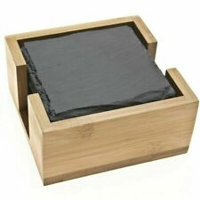 Square Natural Slate Coasters Sets Coffee Table Drinks Place Mat Bulk Sale 10cm