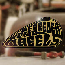 Forever Two Wheels sticker adesivo autocollante BOBBER CHOPPER ORO 120mm