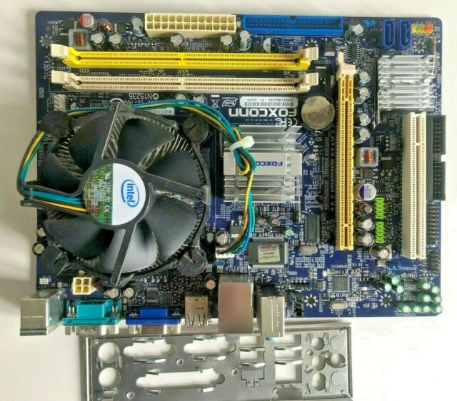 Foxconn G31MV LGA775 Intel Motherboard MATX with IO Shield and Dual Core CPU
