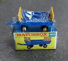 Vintage Matchbox 40 Hay Trailer New Shrink-Wrapped New Old Stock