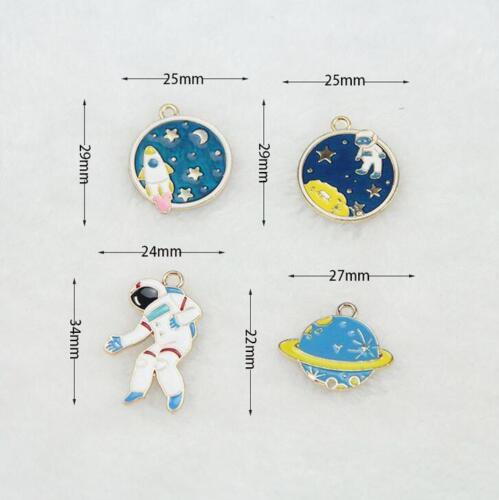 astronauta planeta Gota Colgante De Aceite Pulsera Colgante Pendiente Accesorios Hazlo tú mismo 10 un