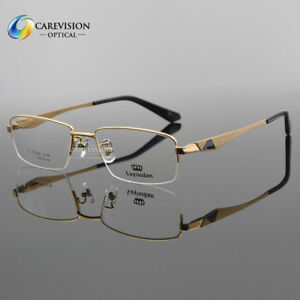 70e3ad3a4c2 Image is loading Fashion-Men-Titanium-Optical-Eyeglass-Frame-Half-Rimless-