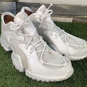 UK10-Reebok-R96-All-White-Trainers-Casual-Mesh-Running-Gym-Shoes-EU44-5