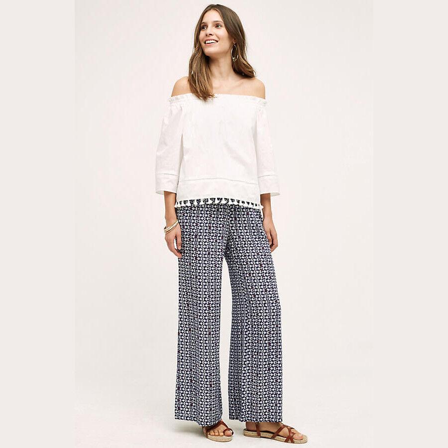 Anthropologie Hei Hei Womens Pants Size Small bluee Wide Legs Santa Clara New 50
