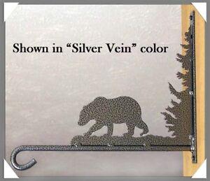 Bear Plant Hanger Rustic Lodge Hunting Cabin Garden Kitchen Metal Art Decor