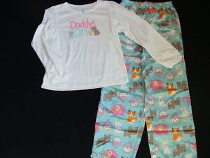 b9674f44e8c4 NWT Girls Carter s Pajamas Size 4 Daddy s Girl 2pc Bunny Pjs Winter ...