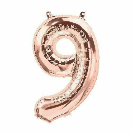 "UK seller 16/""  ROSE GOLD  Foil number balloons"