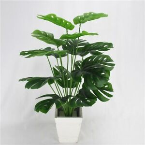 Artificial-Green-Monstera-Leaves-49cm-18Heads-Fake-Plants-Home-Decorations-1pc