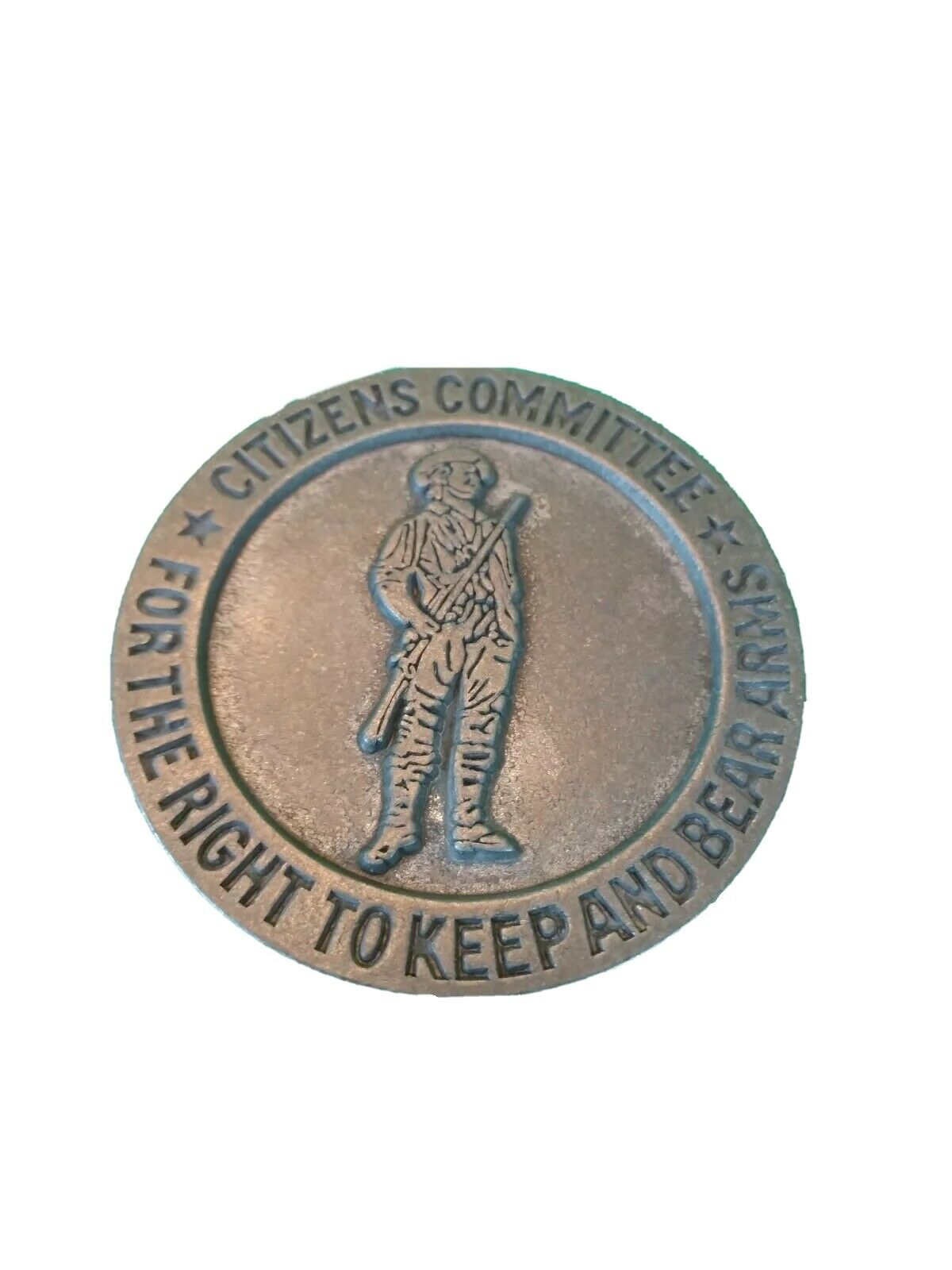 SECOND 2nd AMENDMENT BELT BUCKLE CITIZENS COMMITTEE RIGHT TO KEEP AND BEAR ARMS