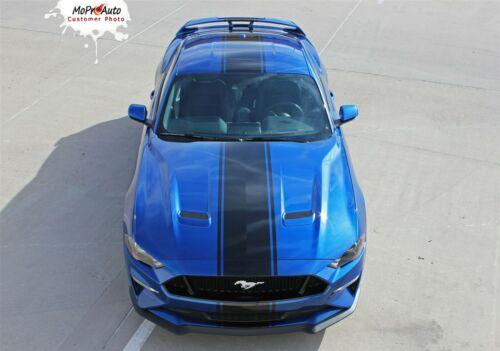 2019 Ford Mustang Racing Stripes Center Wide Vinyl HYPER RALLY Graphic Decal Kit