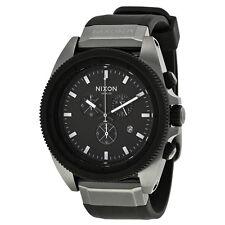 Nixon Rover Chronograph Black Dial Black Silicone Mens Watch A2901531