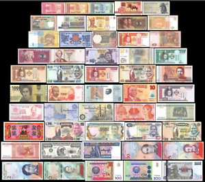 Uncirc-Circ-Lot-of-11-different-Foreign-PAPER-MONEY-BANKNOTES-WORLD-CURRENCY