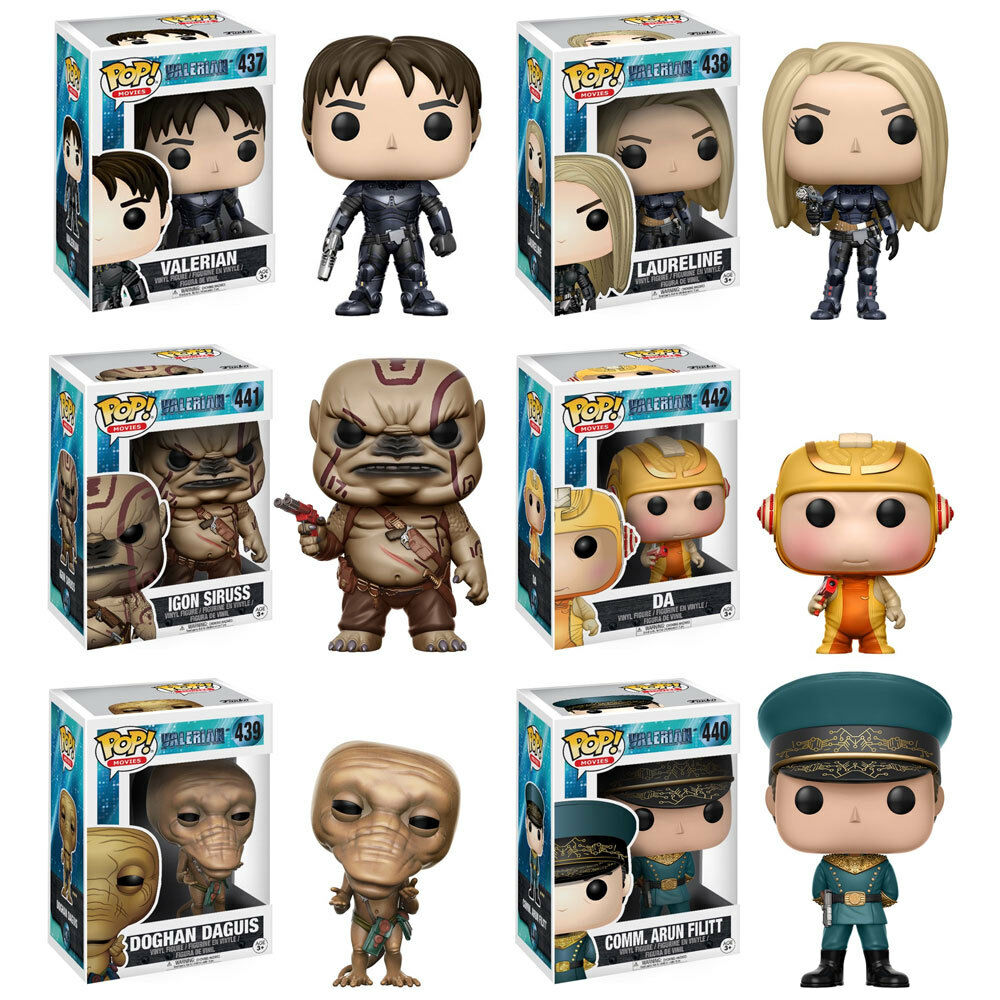 Funko POP  Movies Valerian Vinyl Figures - SET OF 6 (Da, Laureline, Doghan, Igon