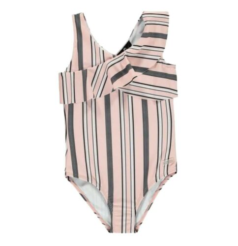 Girls Firetrap V Neck Lightweight Stripe Classic Swimsuit Sizes from 7 to 13