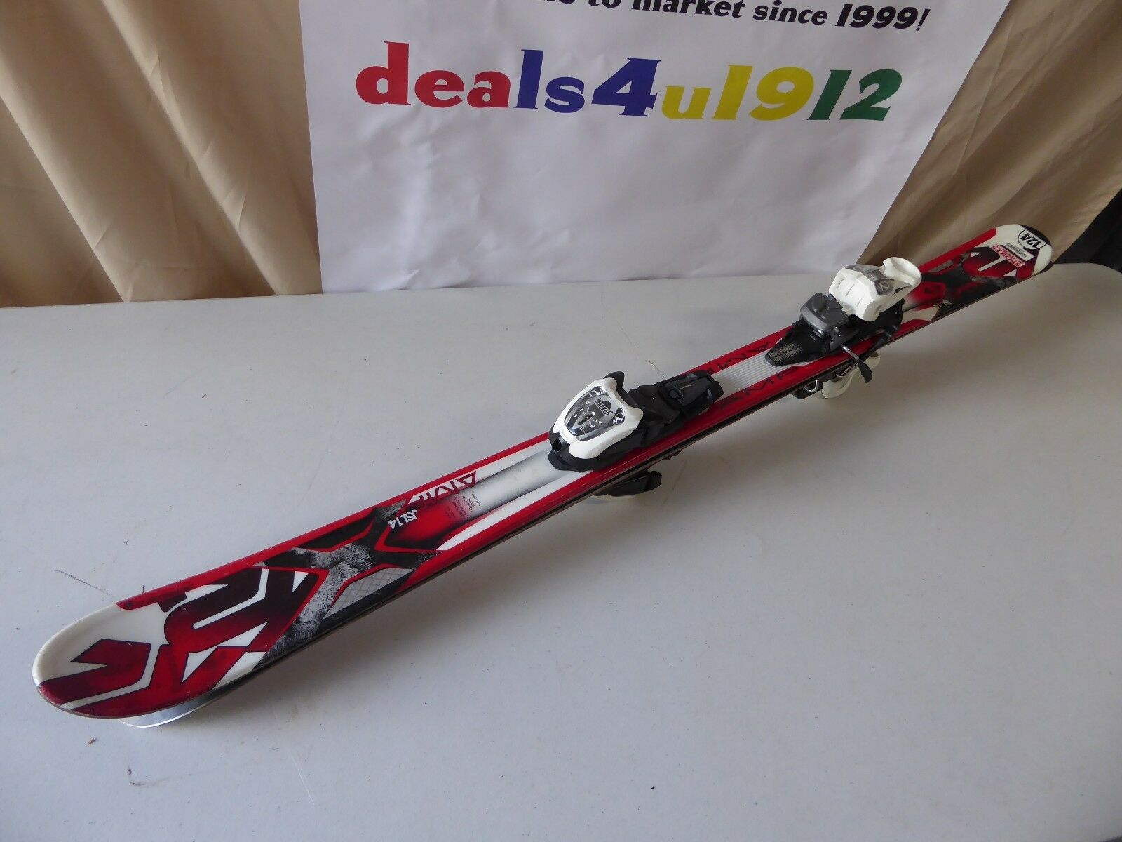 K2 Strike  Amp 124 Skis w  Marker M2 Quikclik Bindings Excellent Pre Owned Cond.  shop online today