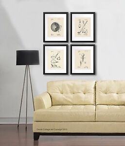 Image Is Loading Golf Wall Decor Art Prints Set Of 4