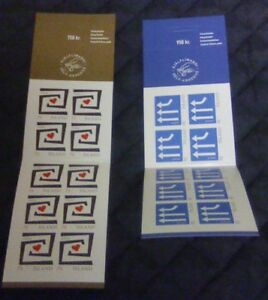 Iceland-Sc-1075a-1076a-2006-Europa-stamp-booklets-mint-NH-Free-Shipping