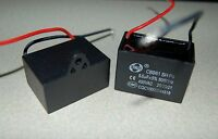 Ceiling Fan Capacitor Cbb61 8uf 2 Wire 450v