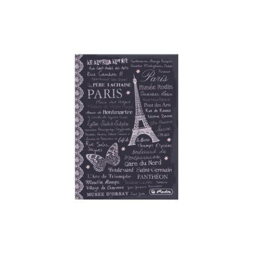 "Herlitz Kladde Notizbuch DIN A6 96 Blatt 70g//m² liniert /""Paris/"""