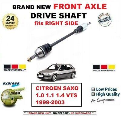 Front Right Driveshaft Fits Citroen SAXO 1.6