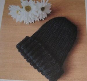 049117836f2367 Men & Women's Classic Beanie Hat ~ Ribbed Design ~ Aran Knitting ...