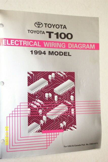 1994 Toyota T100 Truck Electrical Wiring Diagram Manual