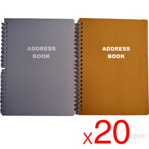 20-X-PHONE-BOOK-METALLIC-COVER-ADDRESS-PAD-CONTACT-DATA-NOTE-TELEPHONE-DIARY