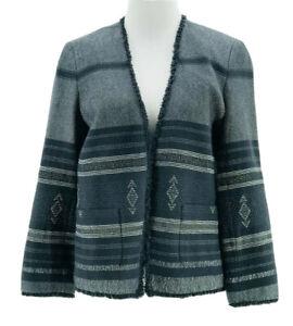 Ann Taylor Loft Women's Navy Blue Open Front Long Sleeve Jacket Size Small NEW