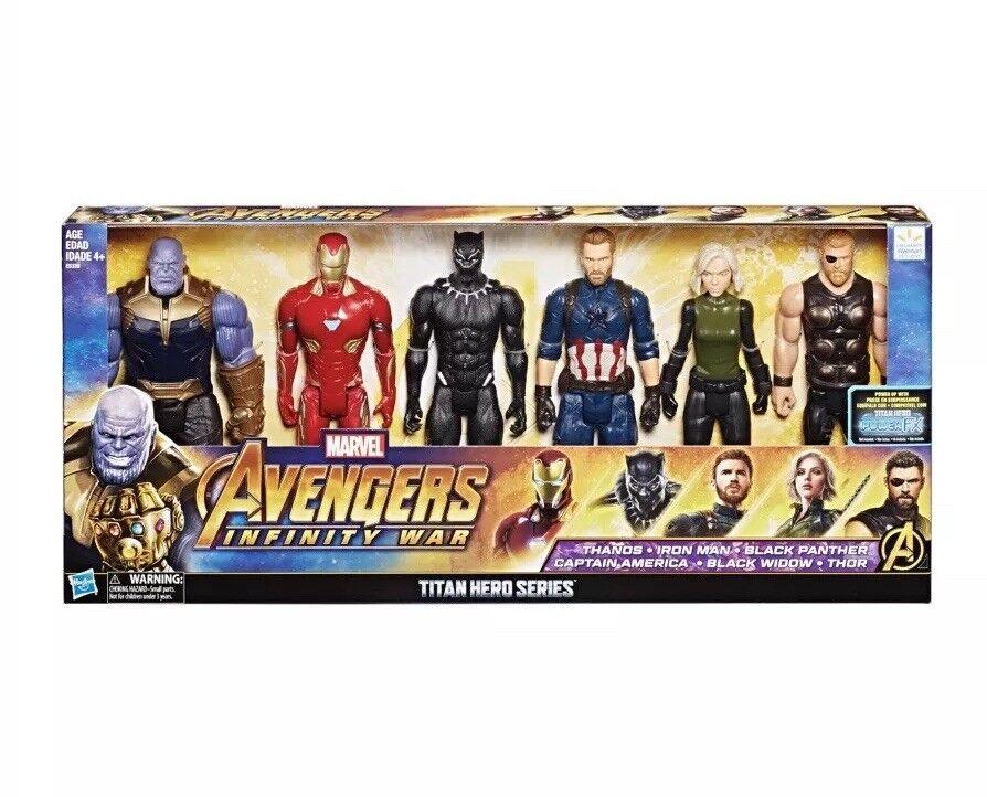 ✔ Marvel Vengadores Infinito Guerra Titan Hero montado Colección Figuras 12  6 Pack