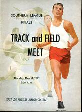 1962 Southern League Track Field Meet East Los Angeles College Program Ex