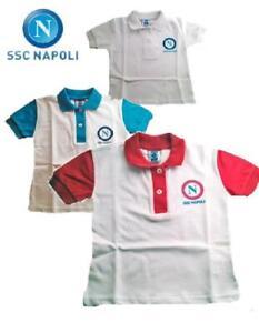 Dettagli su Polo neonato bambino abbigliamento Ssc Napoli calcio *16291