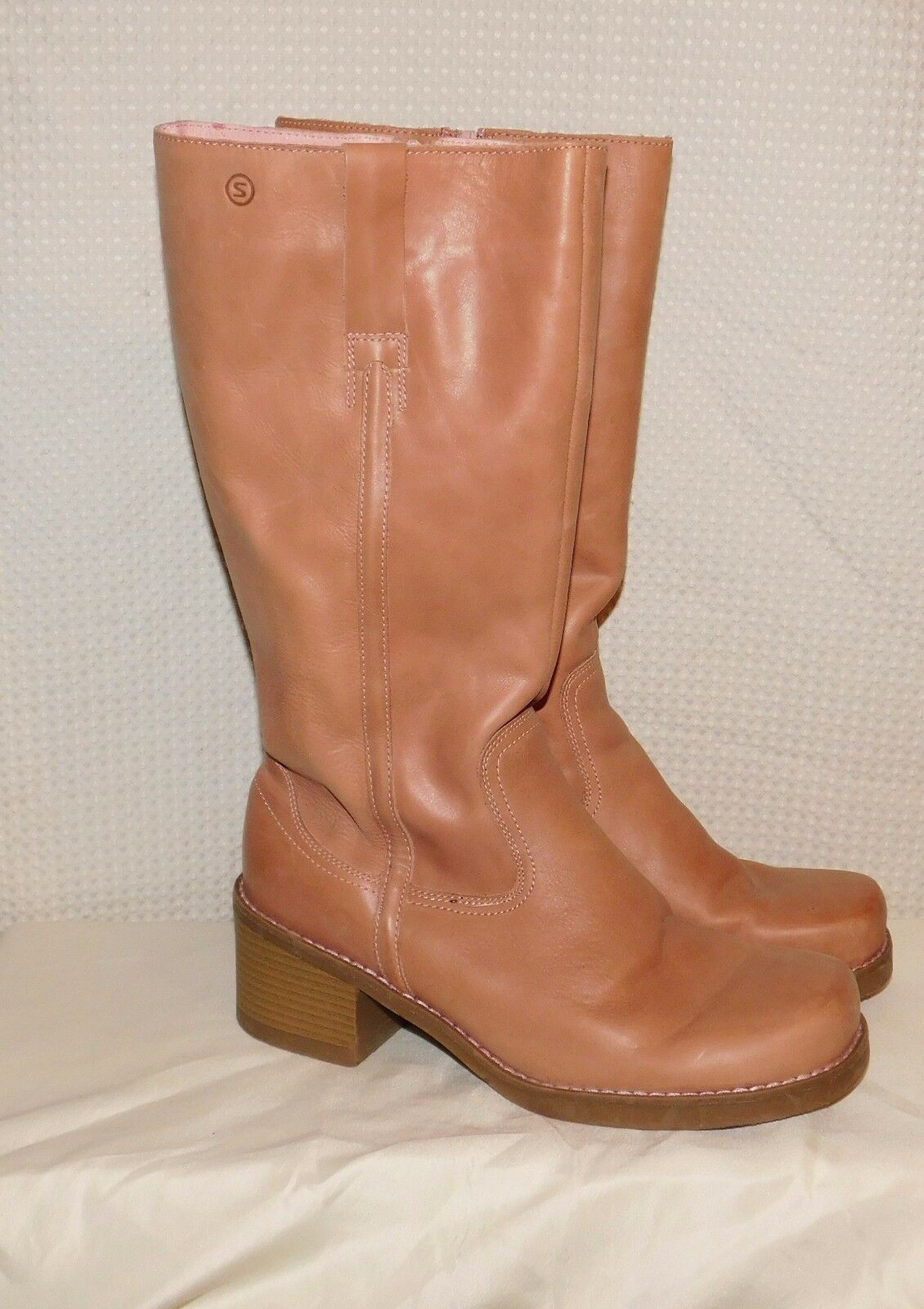 Womens Faux Leather Spring Deanne High Boots sz 10 EUC