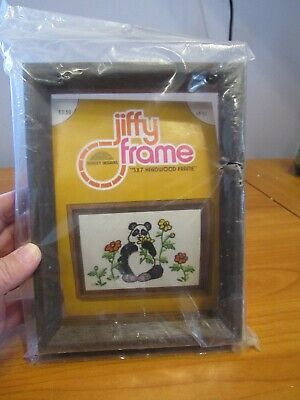 Vintage 90s Sunset Jiffy Kit Counted Cross Stitch Design Shadow Box Treasures Fits 5 by 7 Inch Frame  #16607 Never Opened