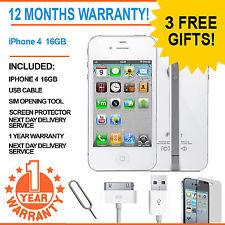 Apple Iphone 4 (16gb) EE Naranja T-mobile Virgin Mobile Smart Phone Blanco