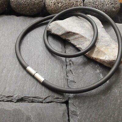 Länge wählbar fuchsia Ø 2 mm 1 Lederkette Lederband mit Edelstahl Bajonett