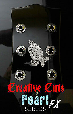 Praying Hands MOP Headstock Logo Sticker Vinyl Decal for ANY Guitar /& BASS