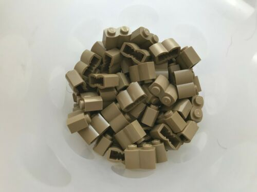 100 PIECES LEGO # 30136-1 x 2 DARK TAN LOG BRICKS-BRAND NEW