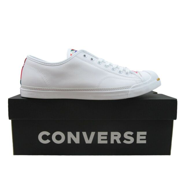 """Converse Jack Purcell OX """"CNY"""" Size 10 Mens White Leather Casual Shoes 164475C"""