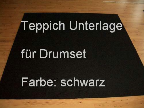 m² Schwarzer Teppich Unterlage Schlagzeug Drums Percussion
