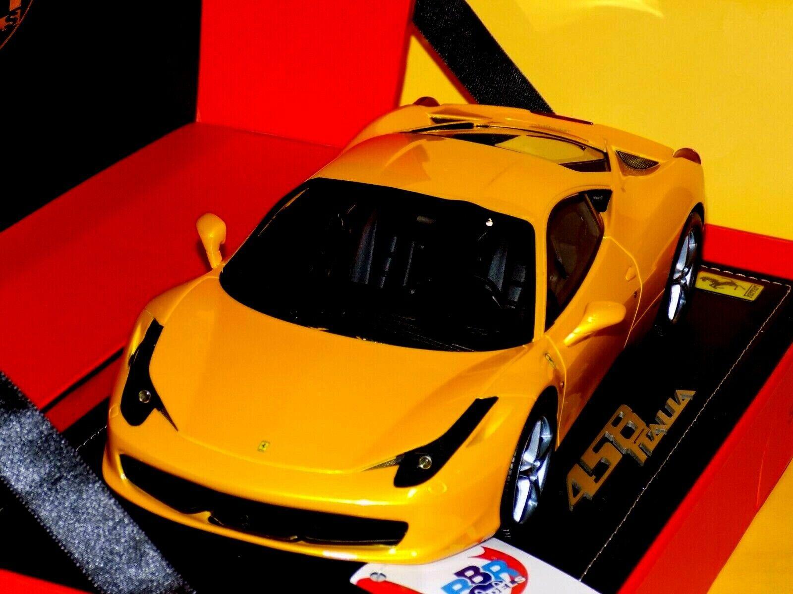 Ferrari 458 Italia 8 C 2009 Limited 70 pieces jaune tristrato BBR 1814-2 1 18