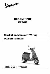 Vespa S 50 4T 4V Workshop Manual * Parts Manual * Schematic * CDROM on vespa dimensions, vespa parts diagram, vespa seats, vespa stator diagram, vespa frame diagram, vespa sprint wiring, scooter battery wire diagram, vespa motor diagram, vespa engine, vespa v50 wiring, vespa clock, vespa switch diagram, vespa accessories, electric scooter diagram, vespa 150 wiring,