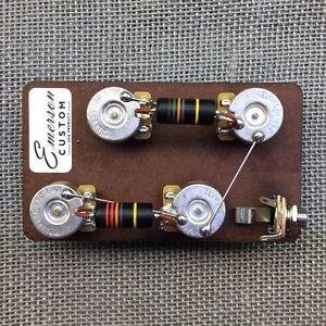 emerson custom les paul prewired kit short shaft wiring harness rh ebay com