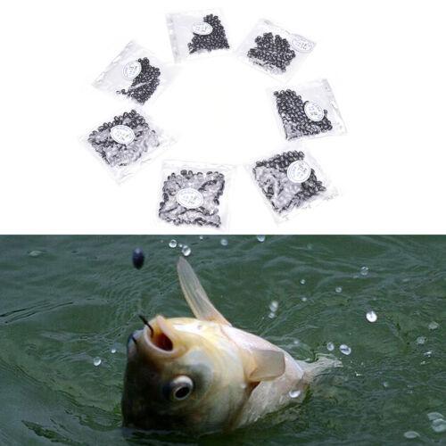 100pcs Fishing Egg Bullet Rig Sinkers Angling Lead Weight Split Shot OvalLTO