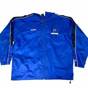 Starter-Mens-XL-Blue-Kentucky-Wildcats-Full-Zip-Nylon-Jacket-Windbreaker-UK