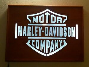Targa insegna luminosa Quadro Harley Davidson vintage